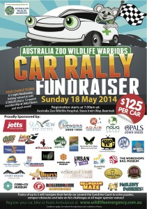 car rally flyer