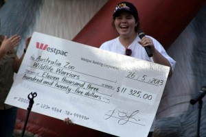 tegan with cheque